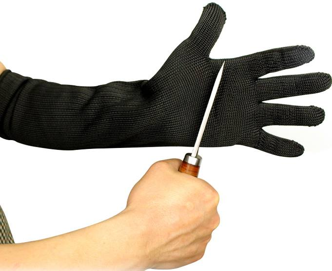 Stainless Steel Wire Long Arm Sleeves Cut Resistant Gloves