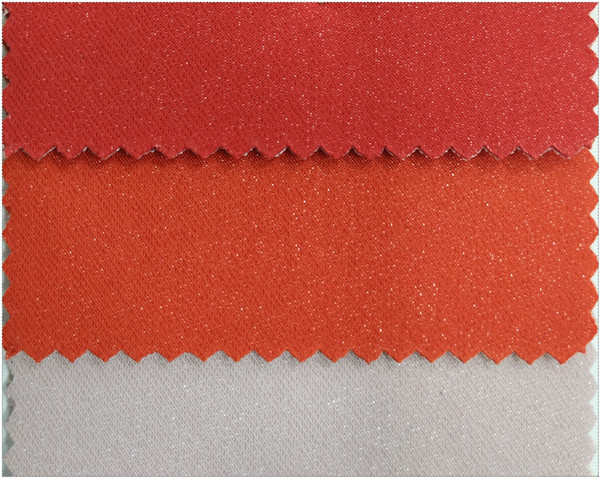 shining twill fabric bonded knittings for bag and luggage